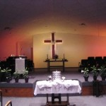 Sanctuary prepared for memorial service